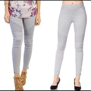 Grey Moto Legging with Ankle Zipper